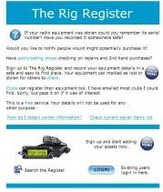 Rig Register