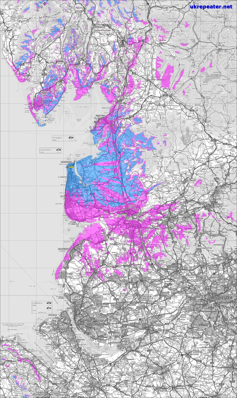 GB7FD Coverage Map